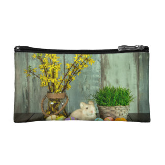 Easter Bunny and Egg Scene Makeup Bags