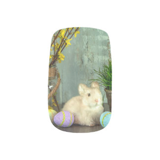 Easter Bunny and Egg Scene Nail Wrap