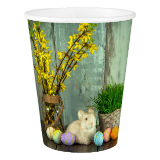 Easter Bunny and Egg Scene Paper Cup