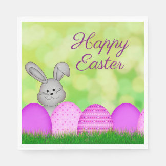 Easter Bunny and Eggs Napkin
