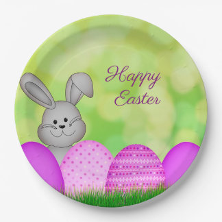 Easter Bunny and Eggs Paper Plate