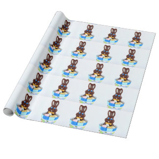 Easter bunny and eggs wrapping paper