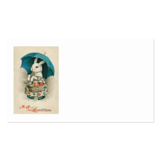Easter Bunny Basket Colored Egg Umbrella Business Card