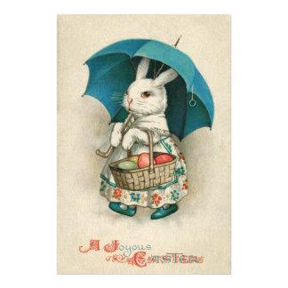 Easter Bunny Basket Colored Egg Umbrella Photo Print