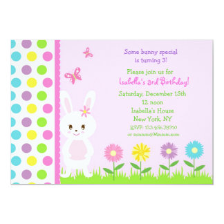 Easter Bunny  Birthday Party Invitations