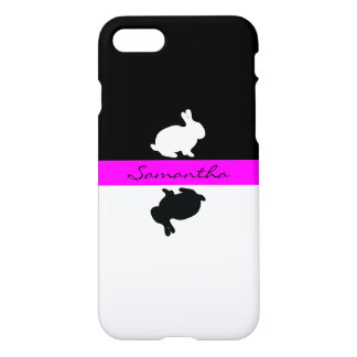 Easter bunny black and white iPhone 8/7 case