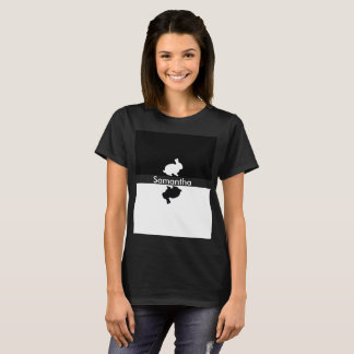 Easter bunny black and white with name T-Shirt