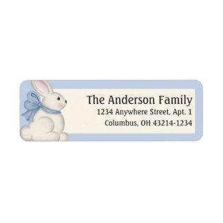 Easter Bunny Blue Color Return Address Labels