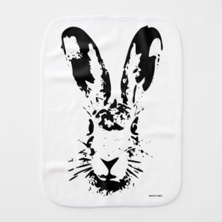 Easter bunny burp cloth