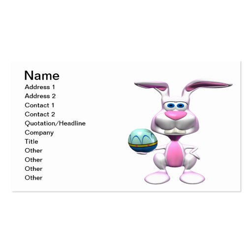 Easter Bunny Business Card Template