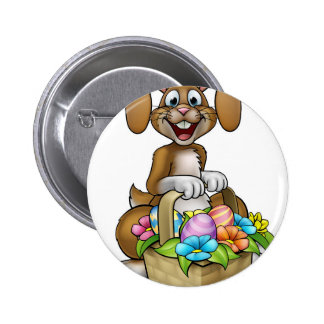Easter Bunny Cartoon Character 2 Inch Round Button