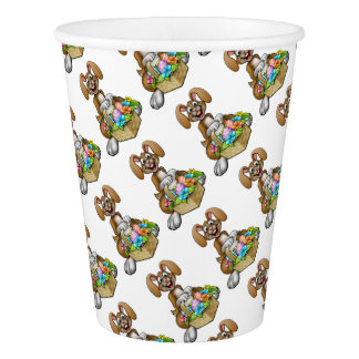 Easter Bunny Cartoon Character Paper Cup