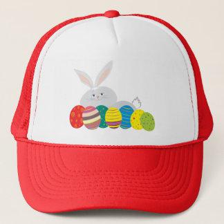 Easter Bunny Cartoon Cute Eggs Colorful Ornate Trucker Hat