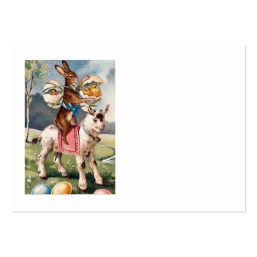 Easter Bunny Chick Colored Painted Egg Goat Business Cards