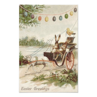 Easter Bunny Chick Egg Lamb Carriage Photo