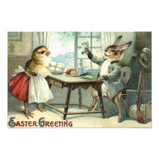 Easter Bunny Chick Egg Meal Hunter Art Photo