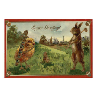 Easter Bunny Chick Golf Caddy Colored Egg Photograph