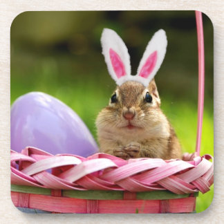 Easter Bunny Chipmunk Coaster
