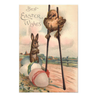 Easter Bunny Colored Egg Chick Stilts Photo