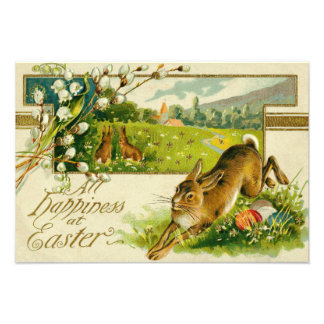 Easter Bunny Colored Egg Church Art Photo