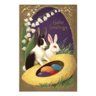 Easter Bunny Colored Egg Lily Of The Valley Art Photo