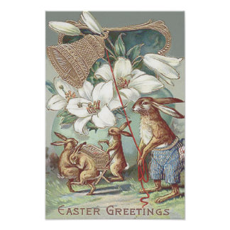 Easter Bunny Colored Painted Egg Lily Bell Photo