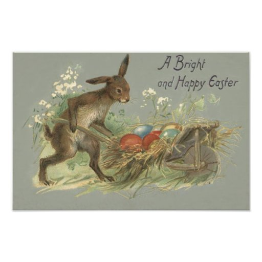 Easter Bunny Colored Painted Egg Lily Wheelbarrow Art Photo