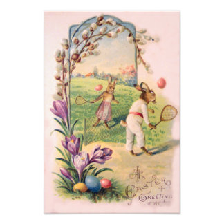 Easter Bunny Colored Painted Egg Tennis Art Photo