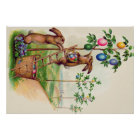 Easter Bunny Coloured Egg Tree Poster