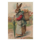 Easter Bunny Coloured Painted Egg Umbrella Poster