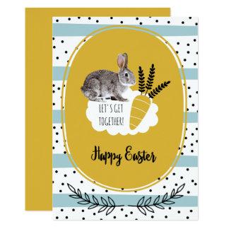 Easter Bunny Custom Easter Brunch Invitations