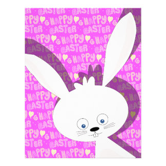 Easter bunny custom letterhead