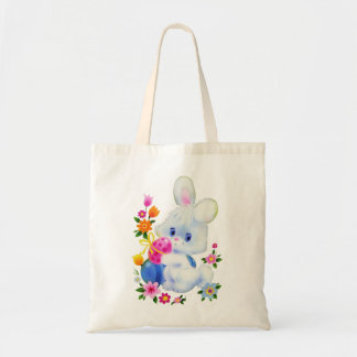 Easter Bunny cute egg tote bag