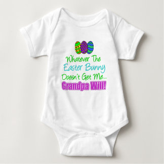 Easter Bunny Doesn't Grandpa Will Baby Bodysuit