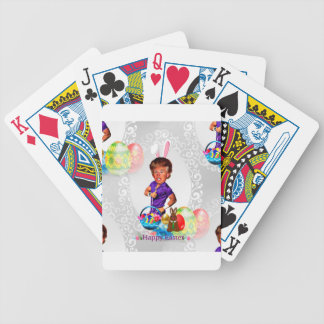 easter bunny donald trump bicycle playing cards