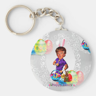 easter bunny donald trump keychain