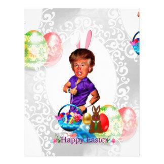 easter bunny donald trump letterhead design