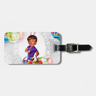 easter bunny donald trump luggage tag