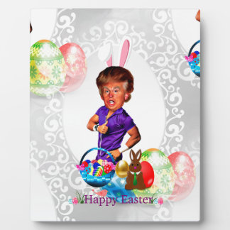 easter bunny donald trump plaque