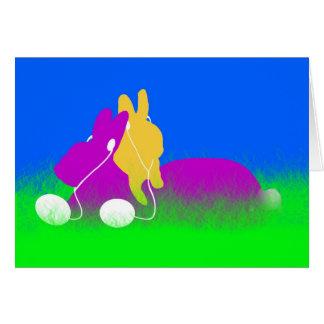 Easter Bunny Ear Buds Card