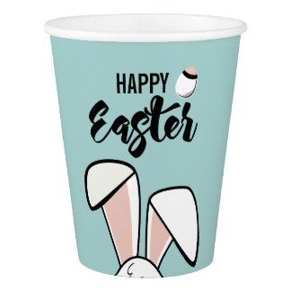 Easter Bunny Ears Paper Cup