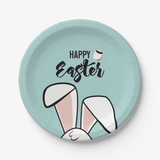 Easter Bunny Ears Paper Plate