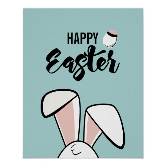 Easter Bunny Ears Poster