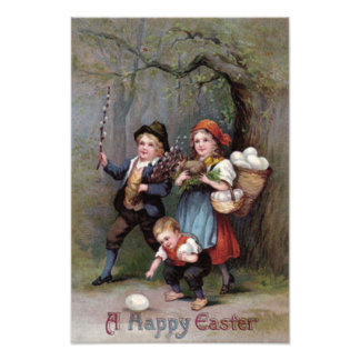 Easter Bunny Easter Egg Hunt Forest Photo Print