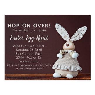 Easter Bunny Easter Egg Hunt Invitation Postcard