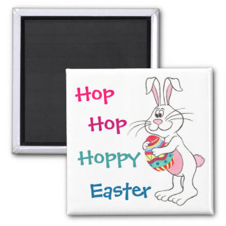Easter Bunny & Egg - Customizable Magnet