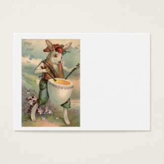 Easter Bunny Egg Drum Drummer Flower Business Card