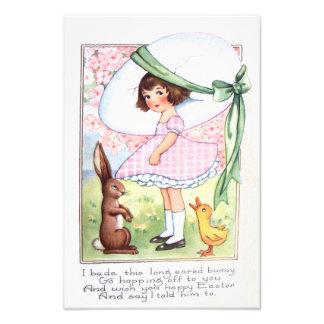 Easter Bunny Egg Duck Flower Girl Photograph