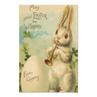 Easter Bunny Egg Four Leaf Clover Trumpet Photograph