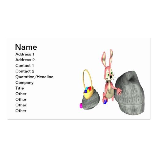 Easter Bunny Egg Hiding Business Card Templates